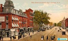 Cortland, New York City Information Main Street, Street View, City Information, Old Postcards, Great Memories, During The Summer, Old Pictures, Night Life, Vintage Photos