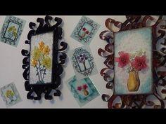 Artesanato-Quadrinhos Vintage Reciclados - YouTube