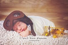 Newborn photography boy Airplanes