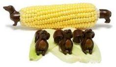 dachshund corn holder  I want these too :)