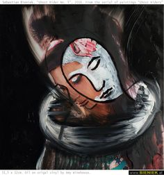 """Sebastian Bieniek, """"Ghost Rider No. 6"""", 2016. From the serial of paintings """"Ghost Riders""""."""