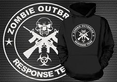 Zombie Outbreak Response Team Hoodie Sweater Hooded Sweatshirt Gift Classic Design 75% Cotton Sweater Gift For Him Her on Etsy, 227:24 kr
