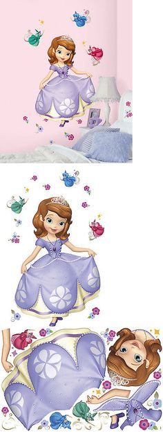 New Giant SOFIA THE FIRST WALL DECALS Disney Pr... - Exclusively on #priceabate #priceabateKidsatHome! BUY IT NOW ONLY $26.99
