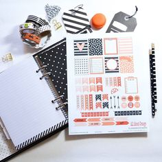 Happy Friday  and welcome to all my new followers! I have an #eclp freebie printable available  today because  it's  been a pretty special week!   You can access it on my blog. link in profile  #planning #plannernerd #erincondrenplanner #planneraddict #plannergirl #plannergoodies #plannercommunity #stickers #planner #blackandwhite #orange by vintageglamstudio