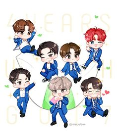 7 or never 7 or nothing 4 years with 💚💚💚💚💚💚💚 🐥🐥🐥🐥🐥🐥🐥 Youngjae, Yugyeom, Jaebum Got7, Fanart Kpop, Got7 Fanart, Jinyoung, Bts 4th Muster, Fall In Luv, Jackson