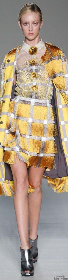 Marco de Vincenzo Spring 2015 RTW--Over-embellished and designed dress!