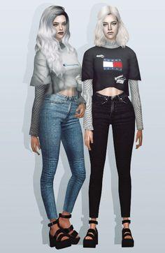 Aperçu de la prochaine cc (Chemises en couches et jeans à haute taille)! J'ai utilisé la nouvelle coloration photoshop ici parce que j'ai perdu mon ancien [lol]. Je suis tombé amoureux de ce top réalisé par @ by2ol. Je voulais vraiment le convertir en sims 2 mais en chemin j'en ai tellement ...