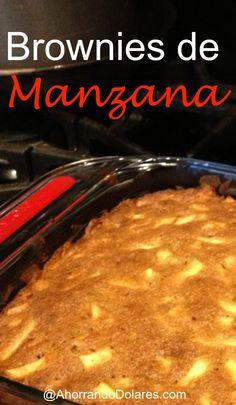 Receta de brownies de manzana. Tienes manzanas en tu cocina? Prepara estos deliciosos brownies de manzana para el fin de semana.