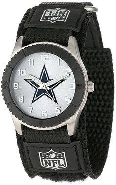 """Amazon.com: Game Time Unisex NFL-ROB-DAL """"Rookie Black"""" Watch - Dallas Cowboys: Watches"""