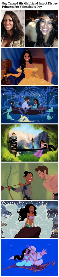 Guy Turned His Girlfriend Into A Disney Princess For Valentine's Day