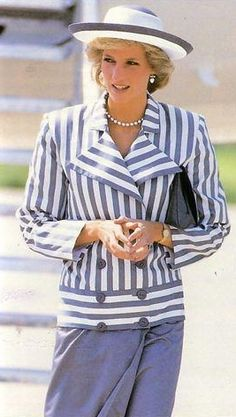 blue grey with stripe jacket