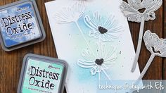 Lacy Poppies with Distress Oxide Background | Technique Friday with Els