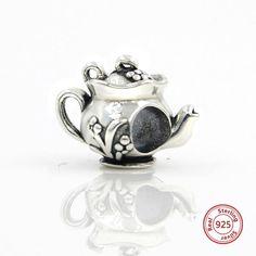 Vintage Flower Teapot Charm