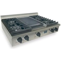FiveStar 36 Inch 4 Burner All Gas Cooktop With Griddle- Stainless Steel
