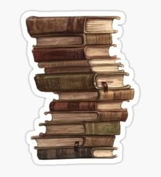 Stack of Books Stickers Bubble Stickers, Cool Stickers, Printable Stickers, Laptop Stickers, Journal Stickers, Planner Stickers, Aesthetic Stickers, Diy Phone Case, Aesthetic Pictures