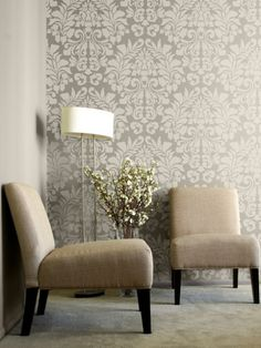 I want to test out some wall stencils like this in our new place!