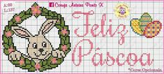 Coelho Easter Cross, Cross Stitch Patterns, Birthdays, Fictional Characters, Google, Mini Cross Stitch, Easter Bunny, Rabbits, Owl Bird