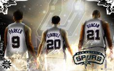 San Antonio Spurs Big 3 Basketball Wallpaper 2012