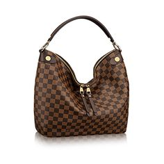 Discover Louis Vuitton Duomo Hobo:  The Duomo Hobo in Damier Ebene defines understated luxury, with its generous lines and supple hand. Refined details – stamped metal rivets, leather zip pulls – add to the bag's allure, yet it is lightweight and body friendly, ideal for everyday wear.