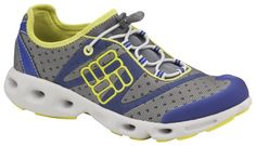 Columbia Women's Powerdrain - Water Shoes - Footwear, I wear these all the time, not in water! Duck Down, Water Shoes, High Collar, Logo Design, Graphic Design, Outdoor Gear, Columbia, Kicks, Aqua