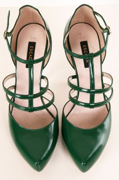 Escada Heels. Love this color!