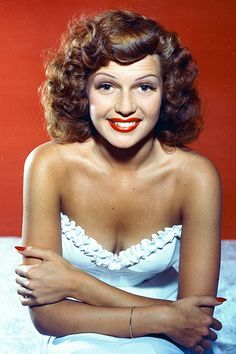 @Nicole sent this color shot of Rita Hayworth. The small amount of info I found on it said the color/tint was done by hand, but it's nice to see at all of the wonderful details shining through. // tumblr_mpagvtraCk1qbsbnoo1_500.jpg 500×750 pixels