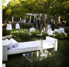 outdoor lounge for reception