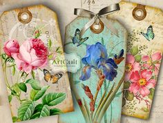 SHABBY CHIC GIFT Tags No2  Digital Collage Sheet  by ArtCult, $4,90