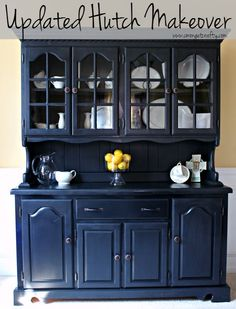 This hutch was tired and old and ugly, but a little elbow grease and paint brought it new life!