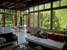 i want to be there..with ocean views would be better...love the windows wide opened