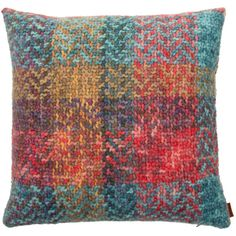Missoni Home Simba Cushion - 100 - 40x40cm (300 AUD) ❤ liked on Polyvore featuring home, home decor, throw pillows, multi, blue accent pillows, red accent pillows, red throw pillows, red toss pillows and missoni home