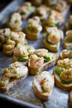 Cuban Shrimp Bruschetta with Lime and Avocado | Adventures in Cooking