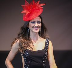 Red sinamay headpiece   Bespoke millinery   Couture bridal   Handmade headpieces