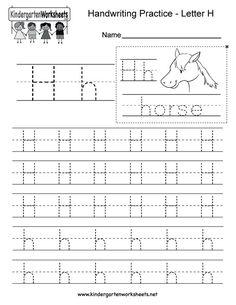 writing sheet for kindergarten