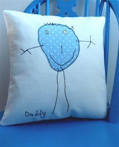 Birthday Gifts For Dad From Toddler Products Ideas For 2019 Drawing For Kids, Art For Kids, Crafts For Kids, Mummy Crafts, Applique Stitches, Cross Stitch Embroidery, Homemade Gifts, Diy Gifts, Kids Artwork
