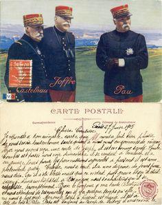 Castelnau, Joffre, Pau - 1915 (from http://mercipourlacarte.com/picture?/1088/)