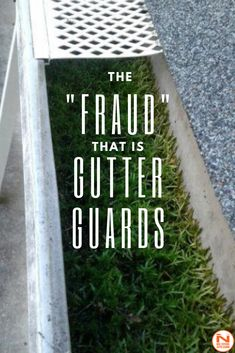 The alluring promise of gutter guards and screens: install, set, and forget. Too bad it doesn't really work that way. Our team of experts explains the real problems that gutter guards cause. Diy Gutters, Copper Gutters, Rain Gutter Guards, Ned Stevens, Gutter Screens, Rain Gutter Cleaning, Lawn Sprinkler System, Backyard Drainage, Gutter Protection