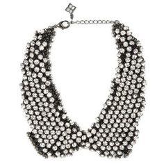 BCBG Rhinestone Collar Necklace
