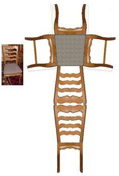 J. Ossorio Papercraft: Papercraft recortable de una silla para dioramas o... Doll House Crafts, Paper Doll House, Paper Houses, Doll Crafts, Paper Furniture, Fairy Furniture, Barbie Furniture, Dollhouse Furniture, Paper Toys