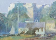 """Annisquam,"" Bertha Menzler Peyton, oil on canvas, 18 1/4 x 24 1/2"", private collection."