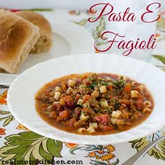 Pasta E Fagioli {like Olive Garden} | Real Mom Kitchen