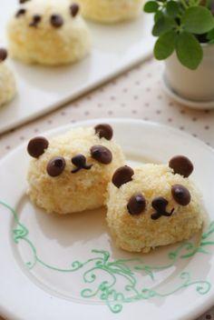 panda cakes-- make using rice krispie treats??