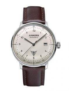 2f5a5ec0d91 The Junkers Bauhaus Watch is made in Germany and features a stainless steel  case