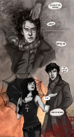 Sherlock and (Gaiman's) Death.