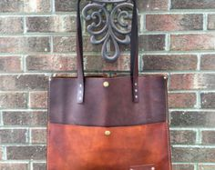 Brown Leather Tote  Large Brown Leather by UrbanGuerrilla63