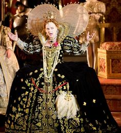 "Elizabeth I's Black Gown (""The Lost Colony"" at the  Waterside Theatre on Roanoke Island, 2011). An impressive late Elizabethan gown re-production."