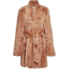 Ryan Roche     Rabbit Fur Coat (451.880 RUB) ❤ liked on Polyvore featuring outerwear, coats, fur, tan, rabbit fur coat, beige coat, quilted coat, tan coat and rabbit coat