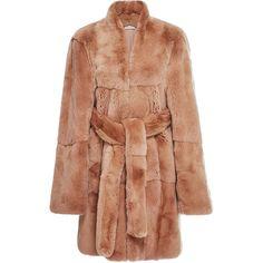 Ryan Roche     Rabbit Fur Coat (451.880 RUB) ❤ liked on Polyvore featuring outerwear, coats, fur, tan, rabbit fur coat, beige coat, quilted coat, tan coat and rabbit coat