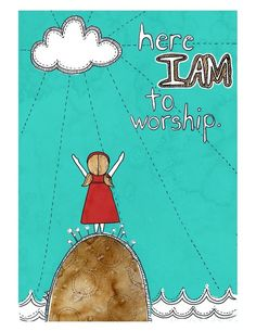 Here I am to worship. As in, I am here to worship. And I worship by being here. Worship The Lord, Praise The Lords, Praise God, Christian Music, Christian Quotes, Bible Quotes, Bible Verses, Choir Quotes, Scripture Art