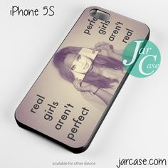 Real girls arent perfect Phone case for iPhone 4/4s/5/5c/5s/6/6 plus